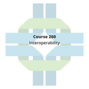 Course tile with the text: Course 260: Interoperability